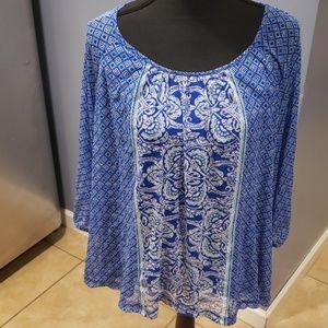 APT 9 Blue shirt light & cute 1x